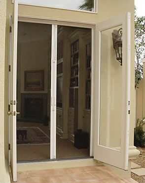 Fort lauderdale retractable screens window door screen for 48 inch retractable screen door