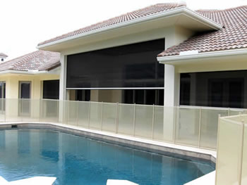 Fort Lauderdale Motorized Screens Patio Screen Clear View