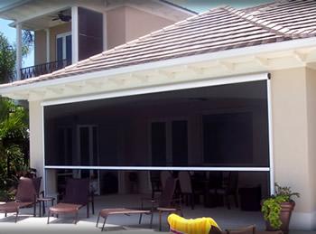 Retractable screen garage door motorized dandk organizer for Motorized screen porch cost